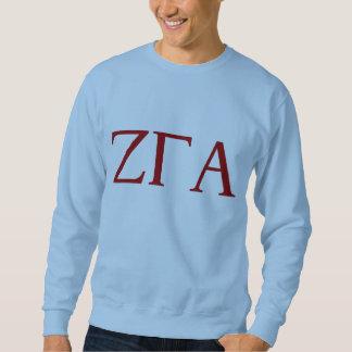 Camiseta azul de la letra de la fraternidad alfa