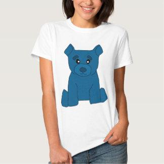 Camiseta azul de las mujeres del oso