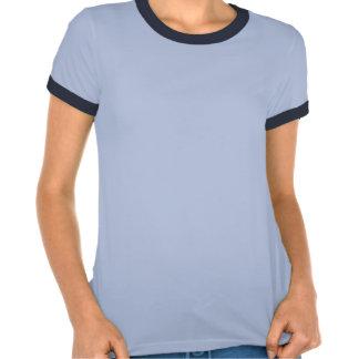 Camiseta azul de las señoras de los jinetes