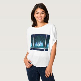Camiseta azul de los árboles