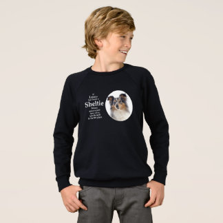Camiseta azul de Merle Sheltie de Timmy