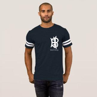 Camiseta azul del béisbol de Brewmasters de la