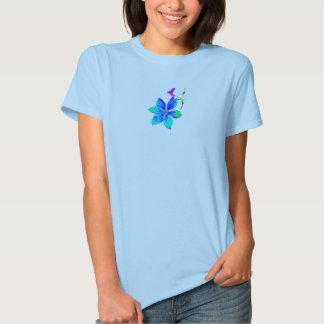 Camiseta azul del Clematis - señoras