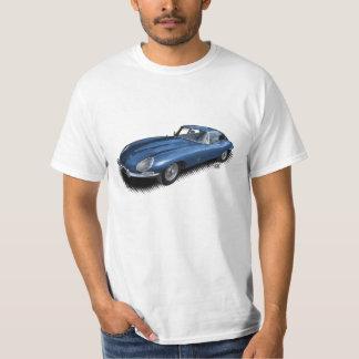 Camiseta azul del coche de deportes del vintage de