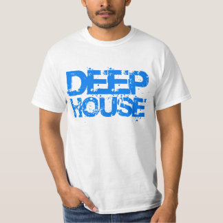 camiseta azul del diseño de DJ de la música