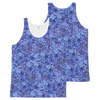 Camiseta azul del Hydrangea