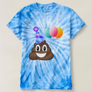 Camiseta azul del impulso de Emoji de la fiesta de