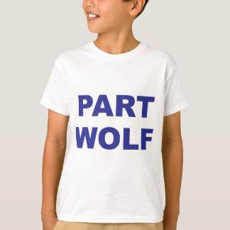 Camiseta Azul del lobo de la parte