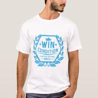 Camiseta Azul del logotipo de la condición del triunfo