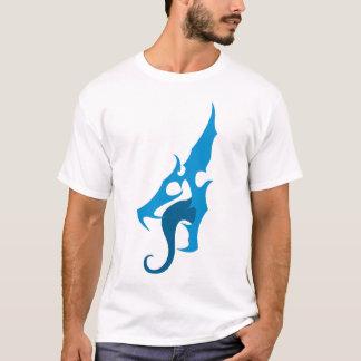 Camiseta azul del logotipo del dragón