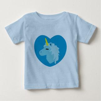 Camiseta azul del niño del unicornio