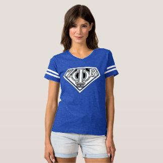 Camiseta azul estupendo de la zeta