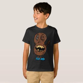 Camiseta azul psica de los niños de los zapatos