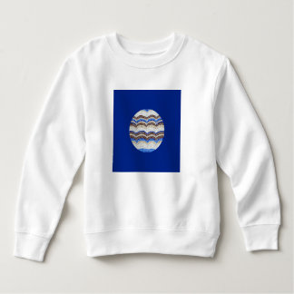 Camiseta azul redonda del niño del mosaico