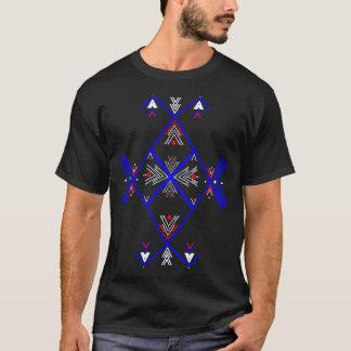 Camiseta azul roja del arte de Amazigh