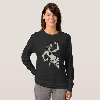 Camiseta bailarina de la danza del vientre tribal de la