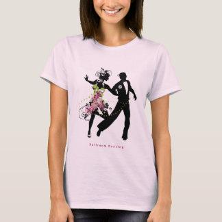 Camiseta Baile de salón de baile de los pares de la silueta