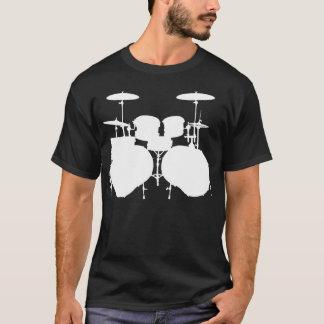 Camiseta Bajo doble Drumset - oscuridad