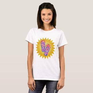 Camiseta Balanceos púrpuras y anaranjados de la puesta del