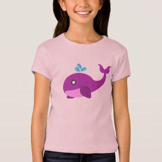 Camiseta Ballena rosada y púrpura