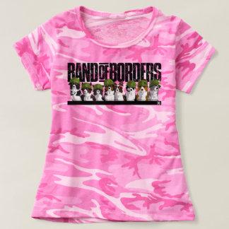 Camiseta Banda de fronteras - camuflaje rosado