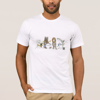 Camiseta Banda invisible del animal del bigote