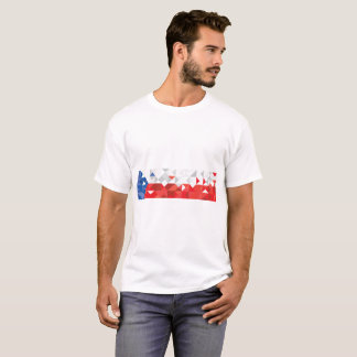 Camiseta Bandera abstracta de la República Checa, colores