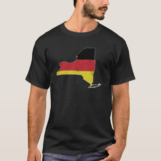 Camiseta Bandera alemana sobre Nueva York