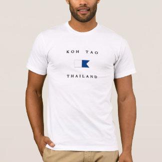 Camiseta Bandera alfa de la zambullida de Tao Tailandia de