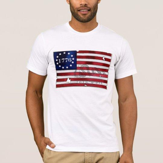 Camiseta Bandera americana 1776