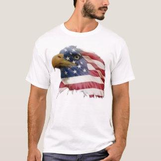 Camiseta Bandera americana del águila calva