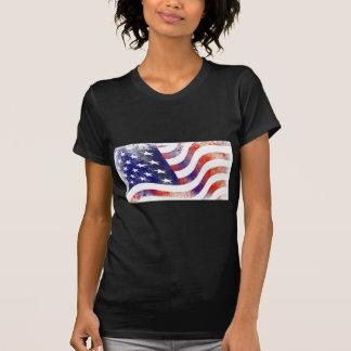 Camiseta Bandera americana del Grunge