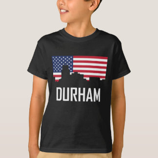 Camiseta Bandera americana del horizonte de Durham Carolina