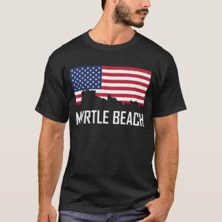 Camiseta Bandera americana del horizonte de Myrtle Beach