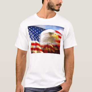 Camiseta Bandera americana Eagle calvo