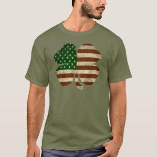 Camiseta Bandera americana irlandesa del patriota del