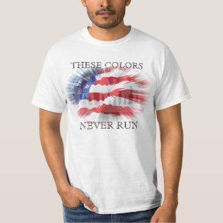 Camiseta Bandera americana patriótica que estos colores