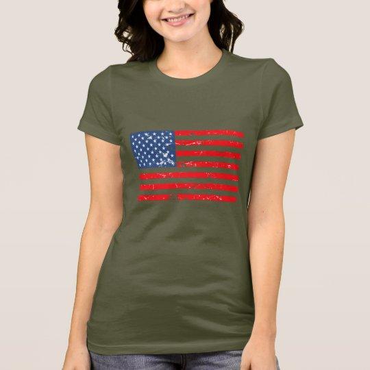 Camiseta Bandera apenada de los E.E.U.U. del estilo