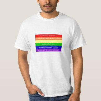 Camiseta Bandera arcoiris mensaje