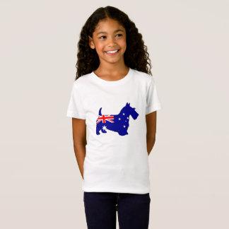 Camiseta Bandera australiana - escocés Terrier
