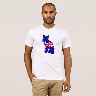 Camiseta Bandera australiana - gato