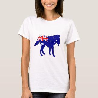 Camiseta Bandera australiana - lobo