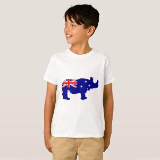 Camiseta Bandera australiana - rinoceronte