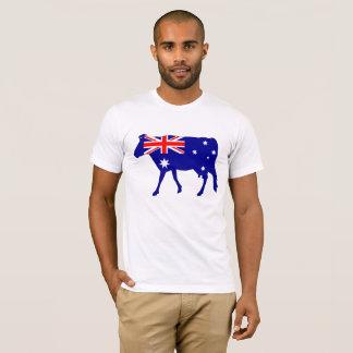 Camiseta Bandera australiana - vaca