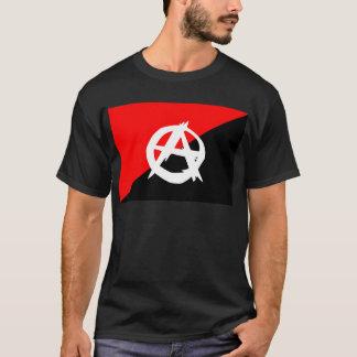 Camiseta Bandera blanca del anarquista y roja negra