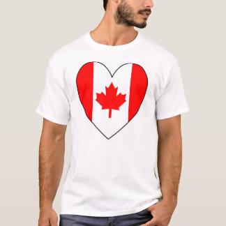 Camiseta Bandera canadiense en forma de corazón