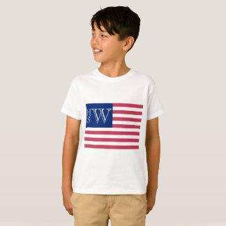Camiseta Bandera con monograma de los E.E.U.U.