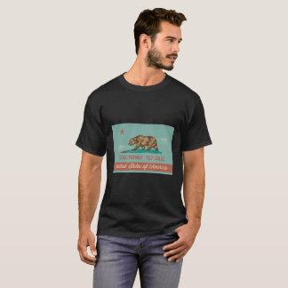 Camiseta Bandera de California del estilo del vintage