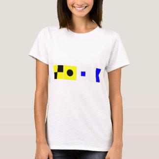 Camiseta Bandera de código Lisa