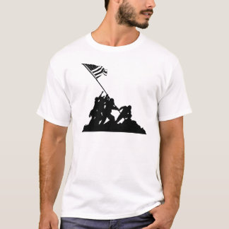 Camiseta Bandera de Iwo Jima que aumenta la silueta